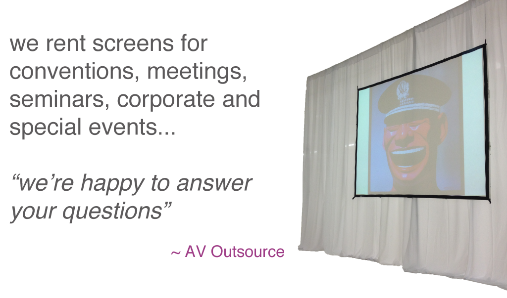 Screen rentals quote of the day AV Outsource