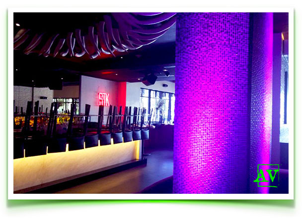 STK Miami Beach uplighting event meeting AV outsource services audio visual